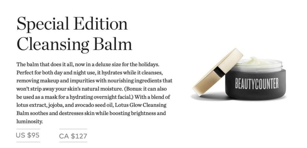 beautycounter holiday 2020, beautycounter, better beauty, nontoxic beauty, clean beauty, cleansing balm, special edition cleansing balm, lotus cleansing balm, kaylee bilger, a mother by nature, beauty counter holiday collection 2020,