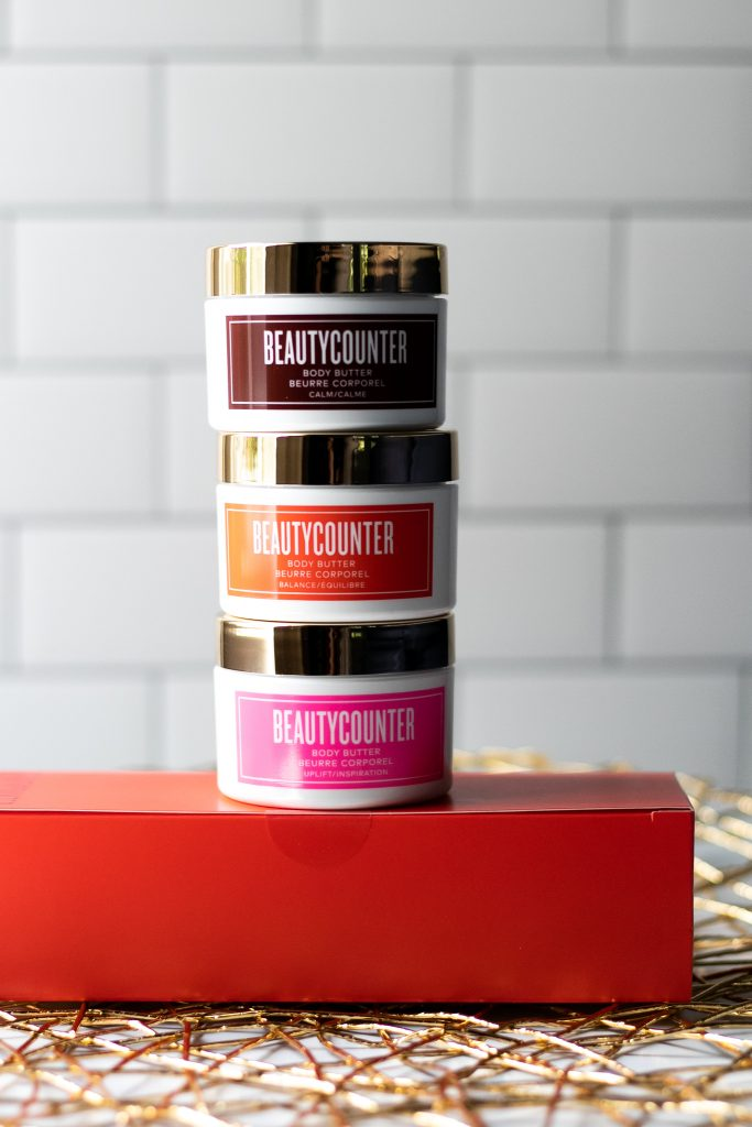 beautycounter never list, beauty counter never list, kaylee bilger, a mother by nature, nontoxic beauty, clean beauty, better beauty, good scents body butter trio,